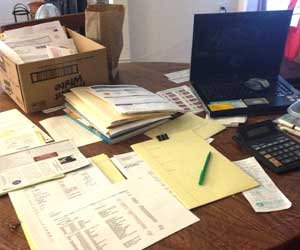 accounting and bookkeeping at home